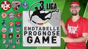 3.LIGA ● ENDTABELLE PROGNOSE GAME ⚽ SAISON 2019/20
