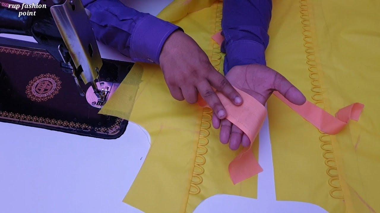 Tabeez Vala Neck Banane क सह व सट क तर क Plaket Neckline Making Easy Youtube