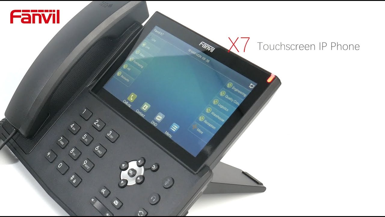 "Introducing The NEW Fanvil X7 7"" Touch Screen IP Phone"