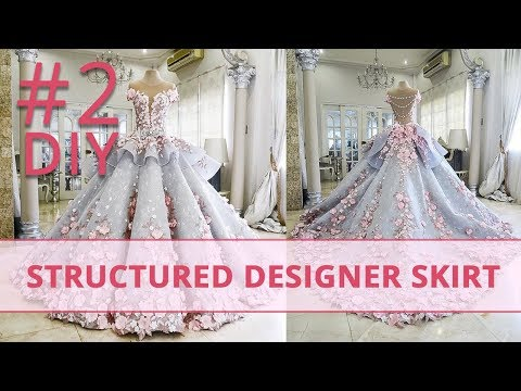 How to Make Structured Designer Skirt? #2 Corset Academy Courses