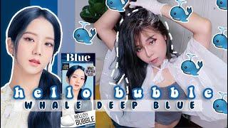 Whale Deep Blue Hello Bubble …