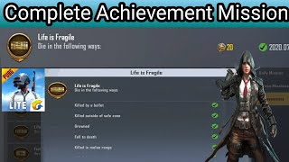 Achievement Point Kaise Badaye Pubg Mobile Lite|Part-5| How To Complete Achievement Easy Process|
