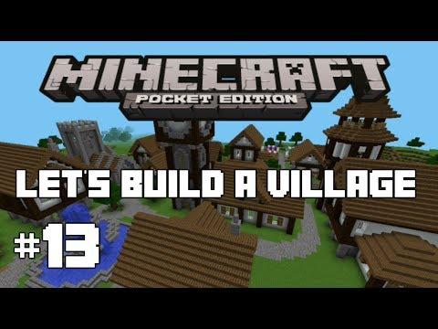 Minecraft PE : Let's Build A Village #13 - Lake House