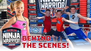 Payton Races on American Ninja Warrior Jr! BTS