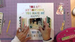 Scrapbook Process #108: My Sonshine for CMG Two Peas Throwback