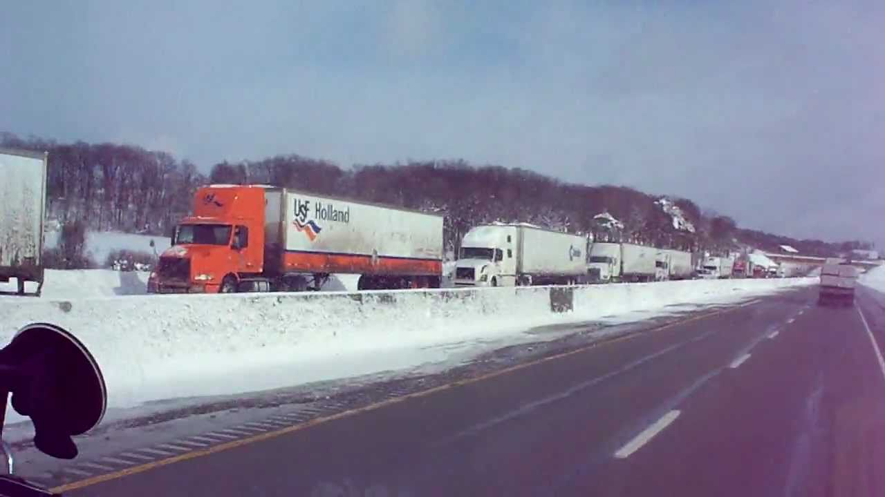 I76 WB PA Turnpike Snow Closure