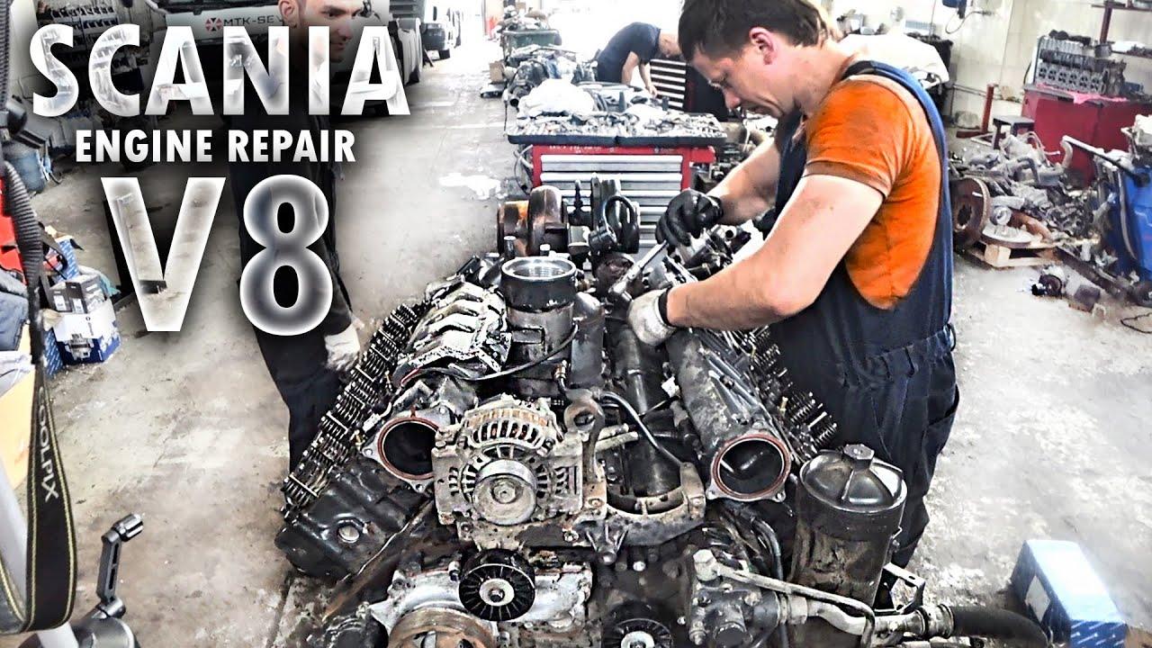 SCANIA V8 16 литров - сборка двигателя / Ремонт моторов грузовиков / ENGINE REPAIR