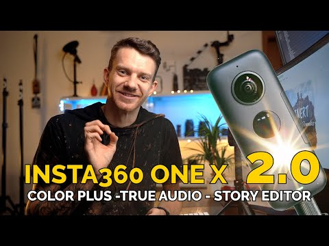 INSTA360 ONE X NEW APP UPDATE 2.0 True Audio, Color Plus Story Editor Review