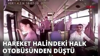 Otobüsten düşen kadın gebze