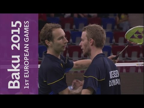 Men's Doubles Gold Medal Match Full Replay  | Badminton | Baku 2015 European Games