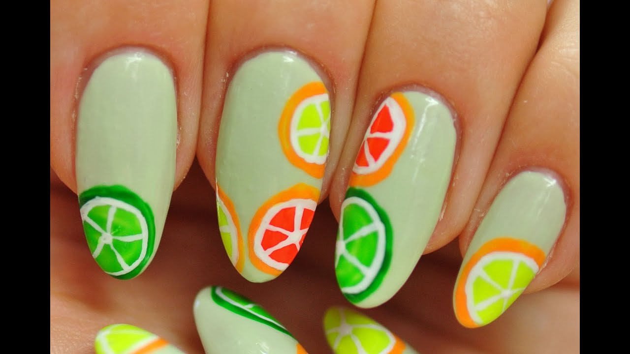 Nail art citrus fruit youtube nail art citrus fruit prinsesfo Gallery