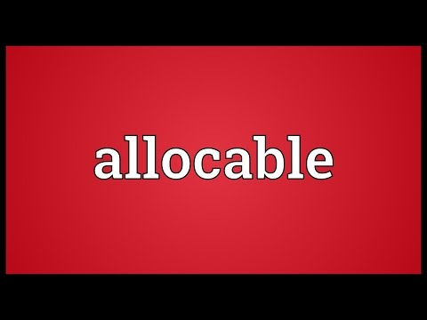 Header of allocable