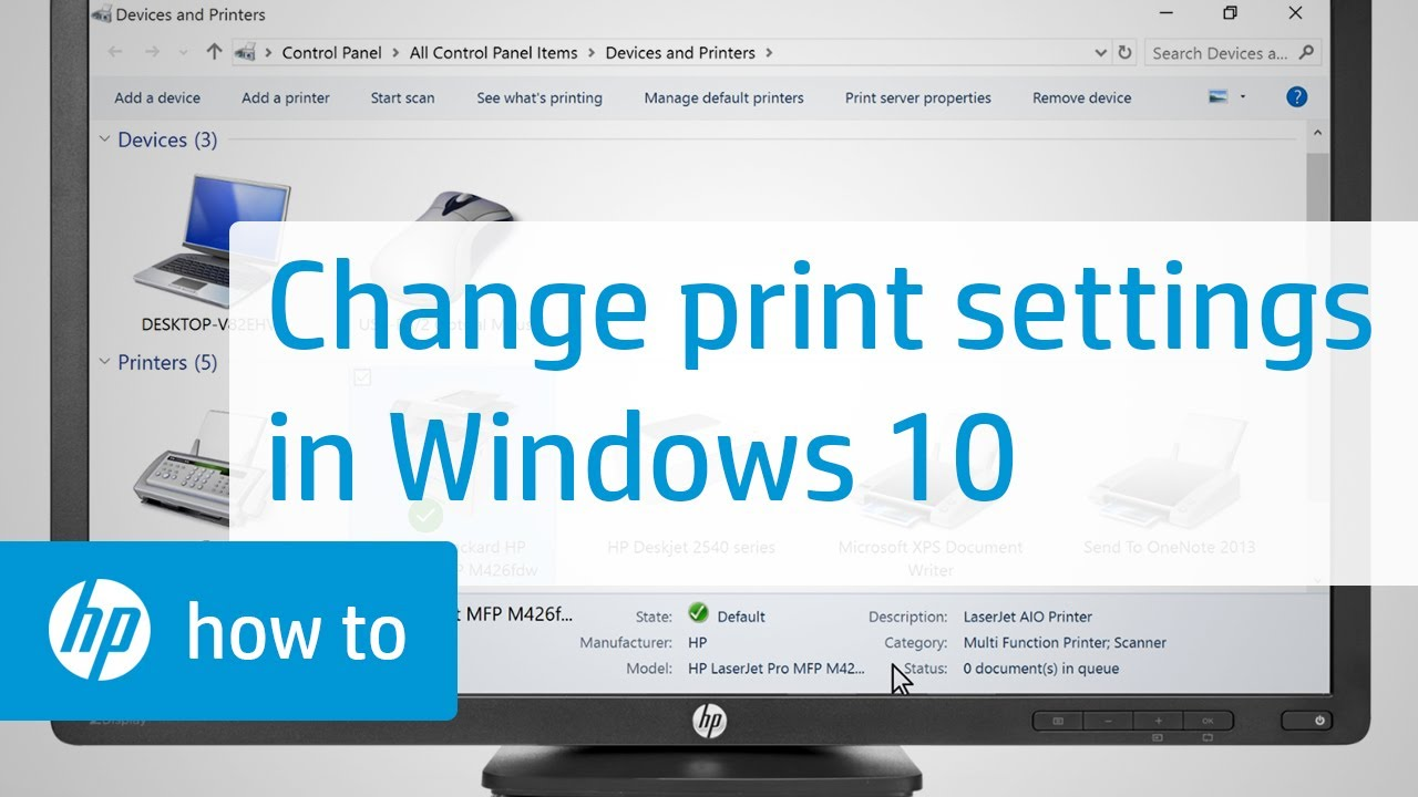 Changing Print Settings in Windows 10 | HP Printers | HP