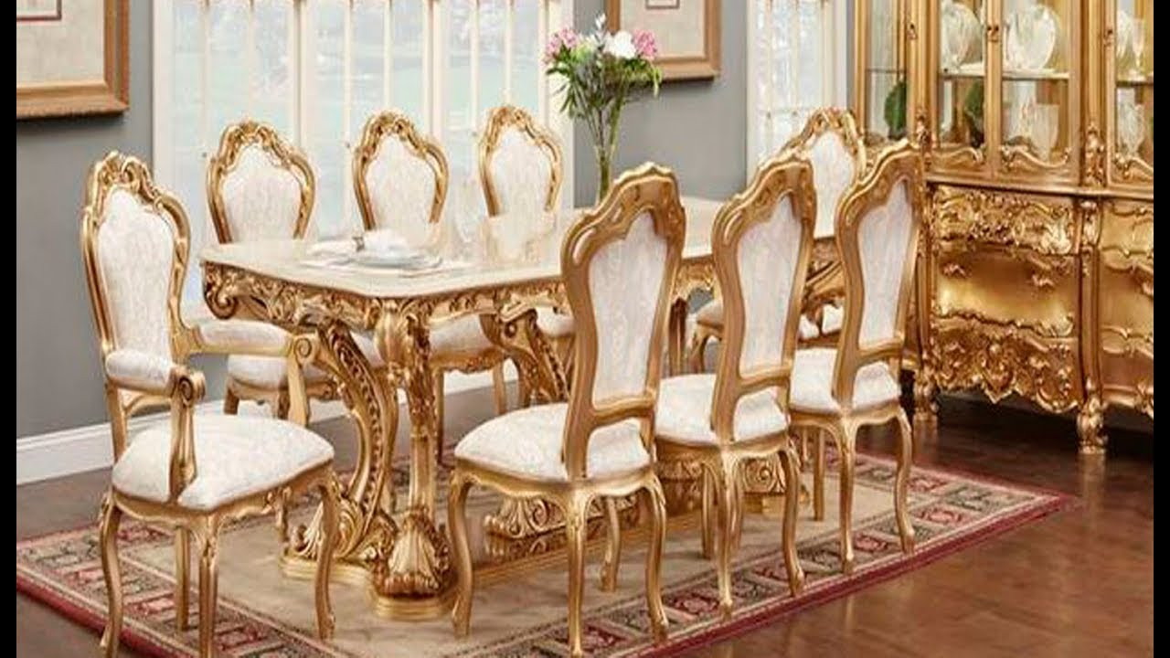 Italian Dining Table and Chairs Sets || Royal Models || All Latest ...