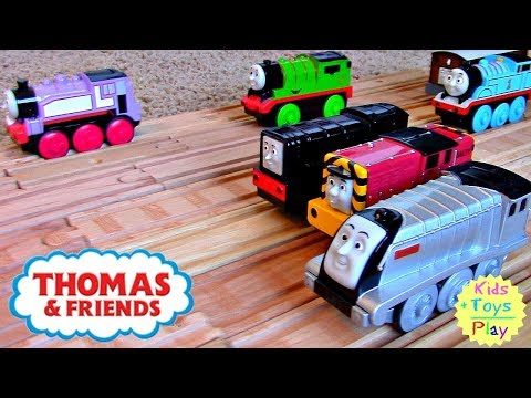 Thomas Wooden Railway | Greatest Thomas the Train Motorized Railroad Competition with Diesel!