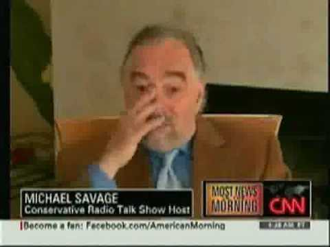 Michael Savage Responds to UK banning: CNN Interview