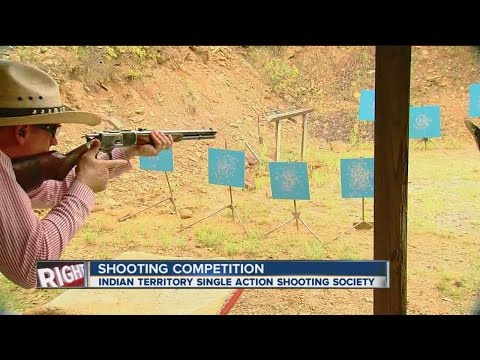 Indian Territory Single Action Shooting Society Holds Cowboy Action Shooting Event
