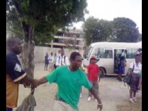 Fighting in Antigua (Glanvilles school)..bwoy dem man from Liberta sick no F*@%
