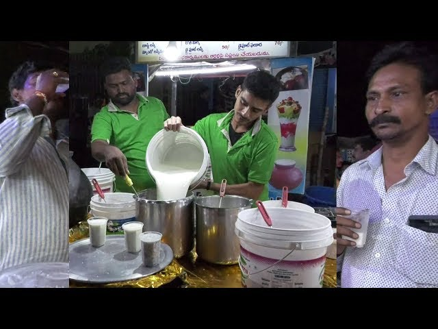 Street Food | How to Make Butter Milk | Spiced Butter Milk | VijayaWada Street Food