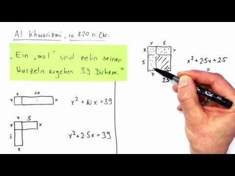 Wie Al Khwarizmi quadratische Gleichungen löst