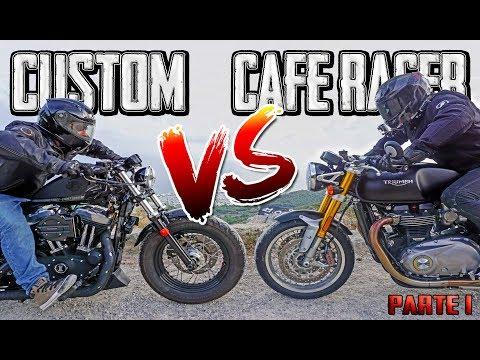 MOTO CUSTOM VS CAFE RACER!!! MOTOVLOG EN CASTELLANO - PARTE 1