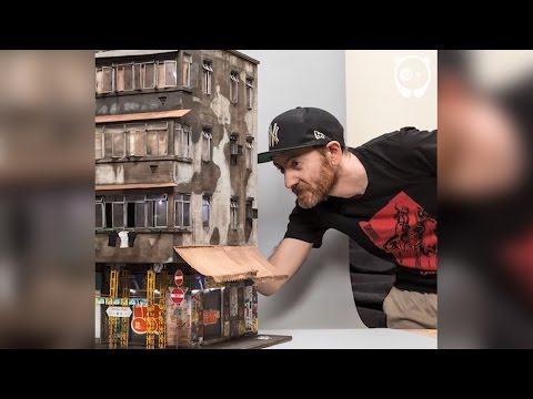 Incredibly detailed miniature urban worlds by Joshua Smith