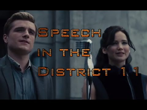The Hunger Games : Catching Fire - Speech in the District 11 in HD