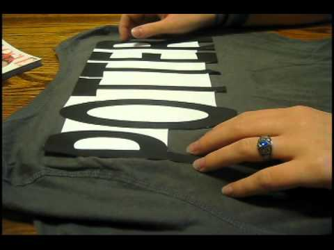 How To Make Block Letter Shirts