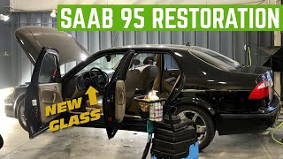 Cheap SAAB 95 Aero Gets NEW GLASS And DEEP CLEANING