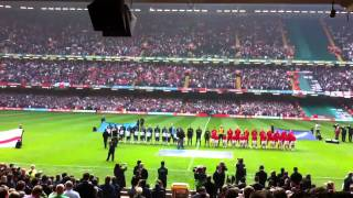Wales v England national anthems
