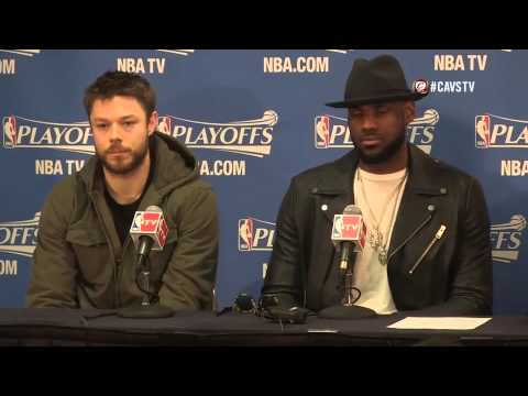 Matthew Dellavedova, LeBron James and Tristan Thompson Interview - 2015 NBA Game 6 at Cavaliers