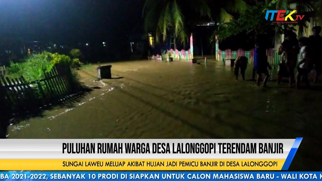 Puluhan Rumah Warga Desa Lalonggopi Terendam Banjir