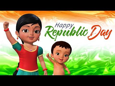 வீர வணக்கம்… வீர வணக்கம் - Republic Day Song | Tamil Rhymes for Children | Infobells