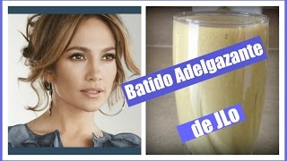 Batido adelgazante de Jennifer Lopez {JLo weight loss shake}
