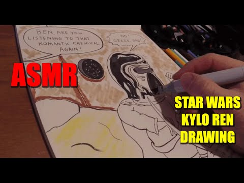 ASMR Star Wars Kylo Ren Drawing