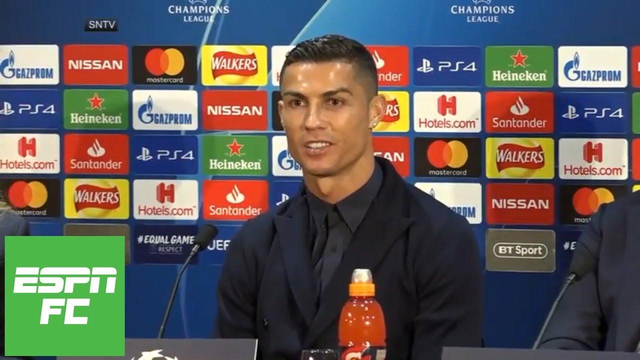 Cristiano Ronaldo press conference for Manchester United vs Juventus in Champions League | ESPN FC