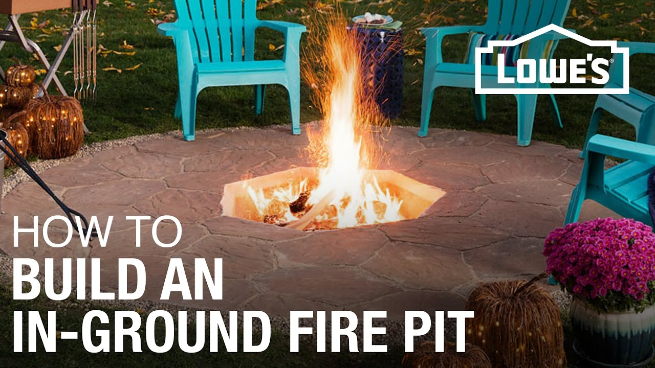 how to build an in ground fire pit youtube. Black Bedroom Furniture Sets. Home Design Ideas