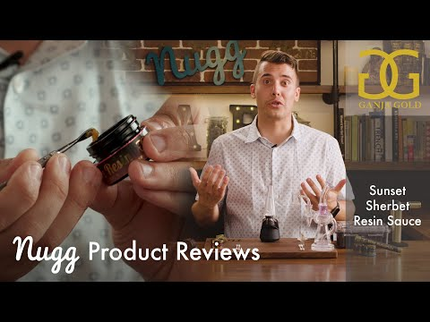 Ganja Gold Sunset Sherbet Indica Live Resin Sauce ft. The Puffco Peak (Nugg 2019 Concentrate Review)