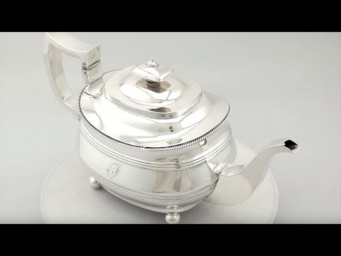 Sterling Silver Teapot - Antique George III - AC Silver (A2544)