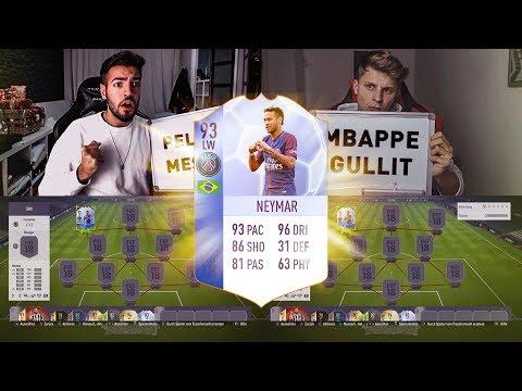 FIFA 18: TOTGS NEYMAR Squad Builder Battle 😱😍 Wakez vs Fifagaming 🤑