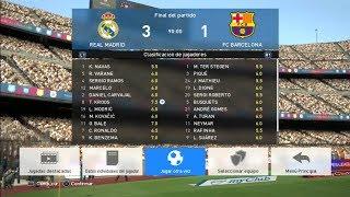 Barcelona VS Real Madrid 1-3 PES 2017 PS3