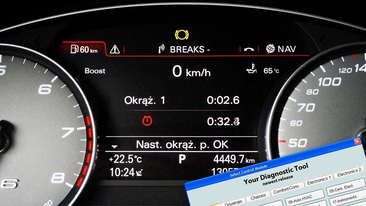 Audi A6 C7 lap timer, boost gauge, oil temperature