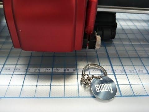 skycut cutting plotter DIY key ring,engrave on metal