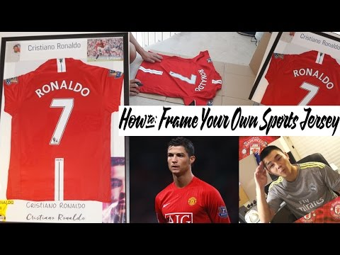 How to Frame Your Own Sports Jersey-The Cheap Way!