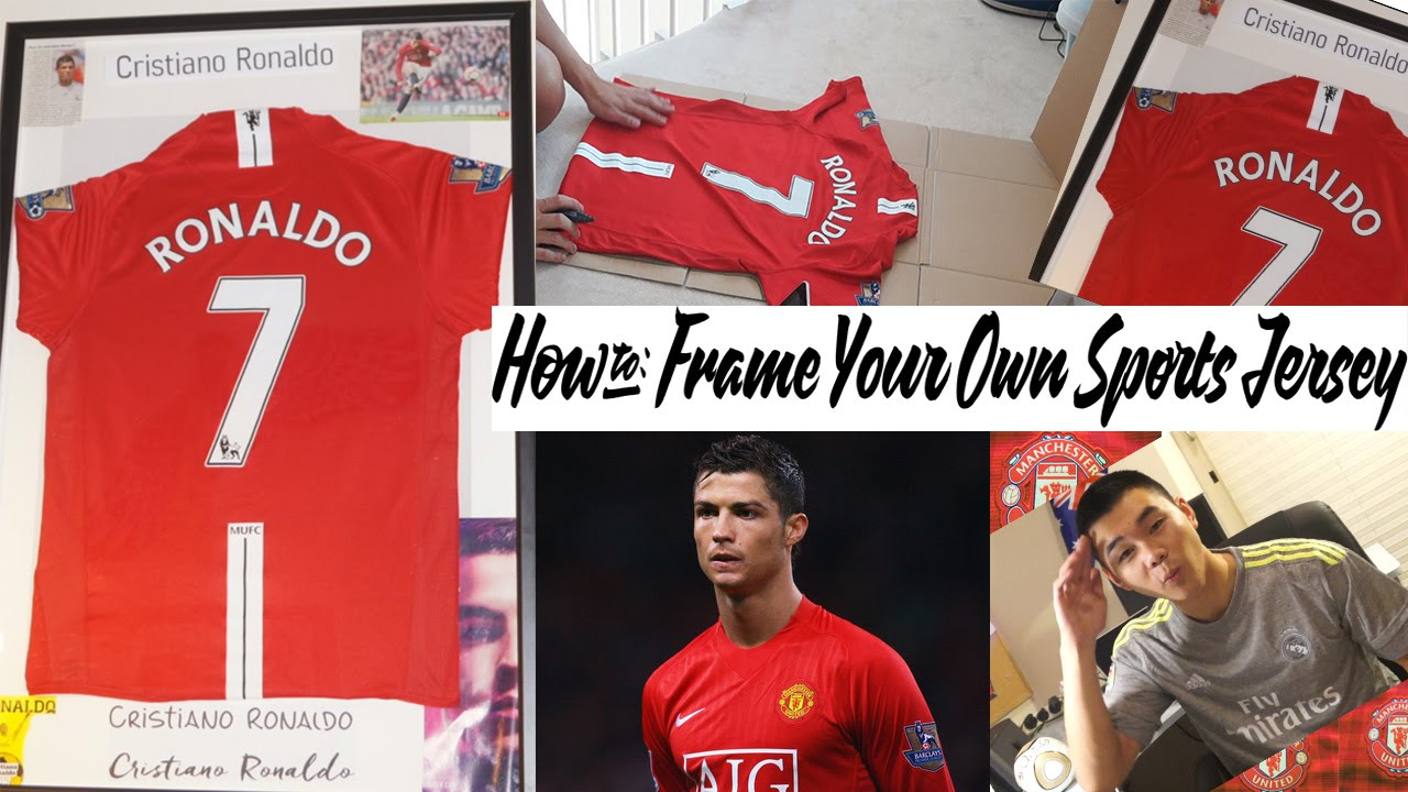 a5b2bcf5b How to Frame Your Own Sports Jersey-The Cheap Way! - YouTube