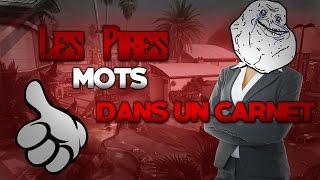 LES PIRES MOTS DANS MON CARNET DE CORRESPONDANCE ! - GTA 5 ONLINE