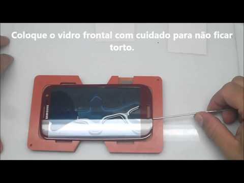 Tutorial de como usar a cola UV líquida para LCD celulares e tablets Galaxy e iPhone