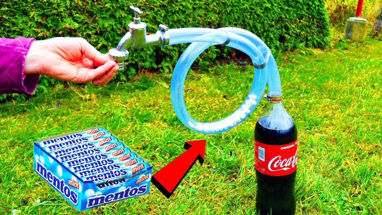 Experiment: Coca Cola and Mentos - Super Slow Motion