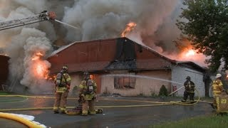 2nd Alarm transmitted for heavy fire throughout building in Palmer, PA.