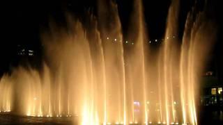 Dancing Water Fountains The Dubai Mall right next to the Burj  worlds tallest building